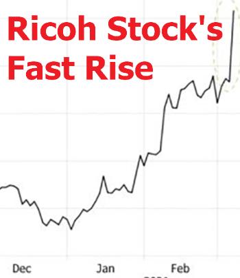 Ricoh Stocks Fast Rise image