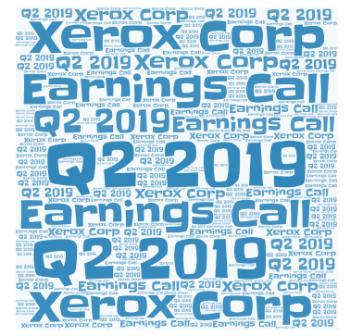 Xerox Q2 2019 Image