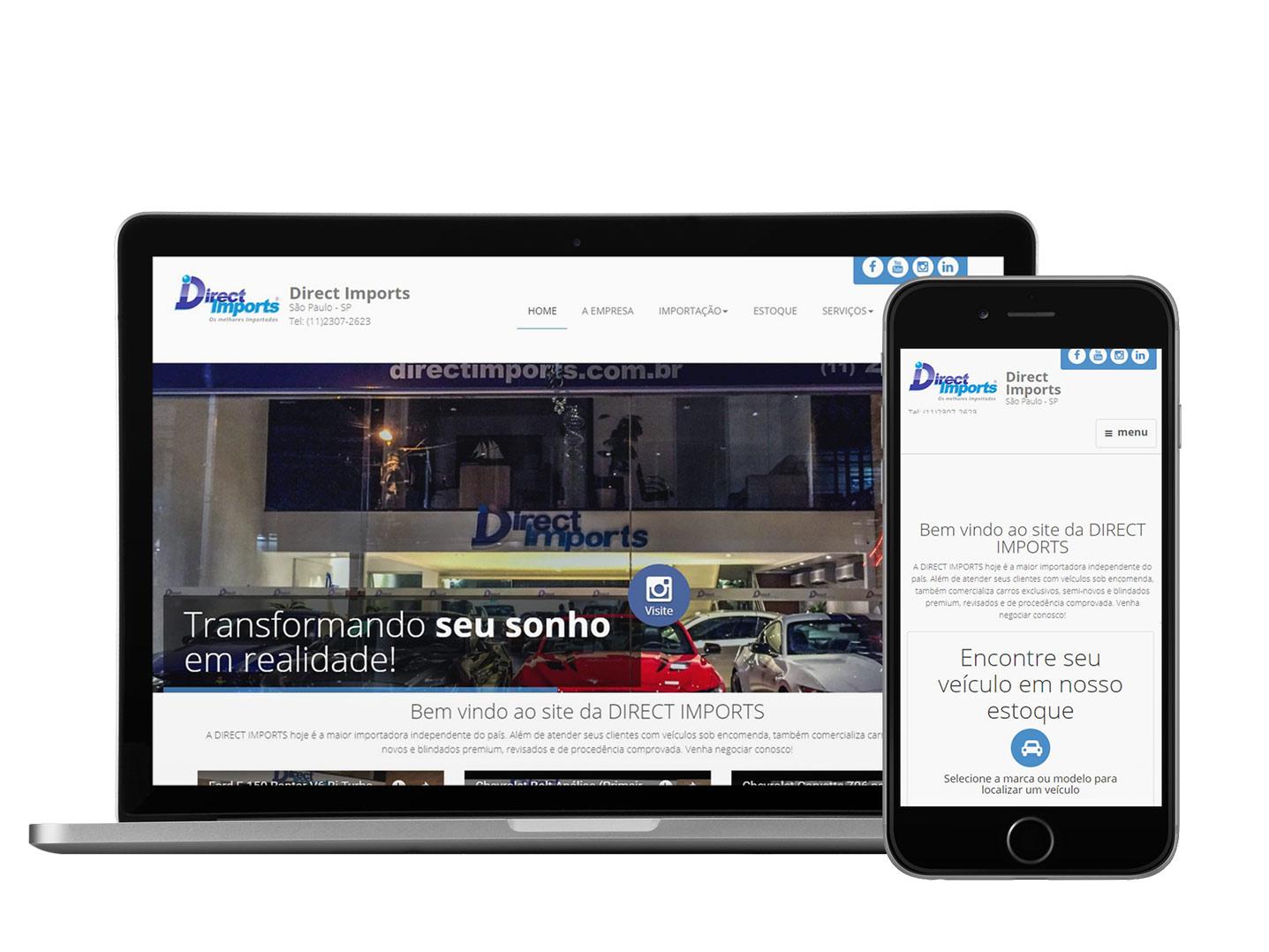 Exemplo de Site responsivo para loja de carros