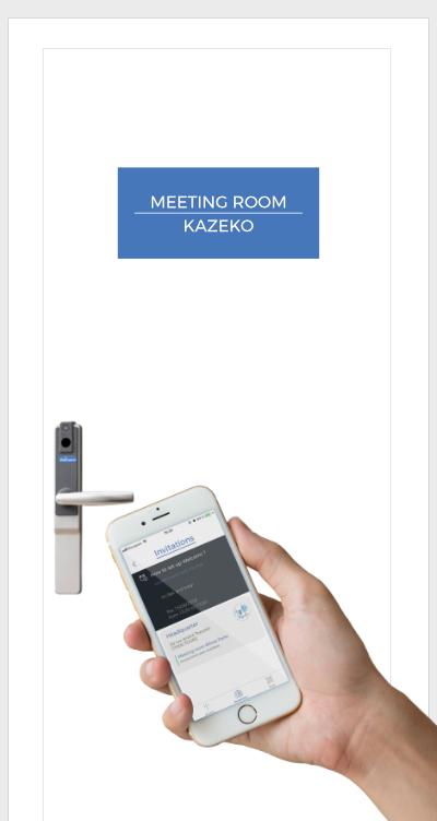 Gestion des salles de réunion, de bureaux grâce à la serrure autonome Welcomr